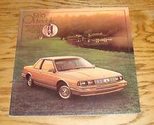 Original 1986 Oldsmobile Cutlass Ciera Cruiser Supreme Calais Sales Brochure 86