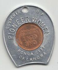 New ListingPioneer Women encased cent coin penny Ponca City Oklahoma 51