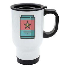 Geek Travel Mug - Drink Soda Can - Thermal - White Stainless Steel