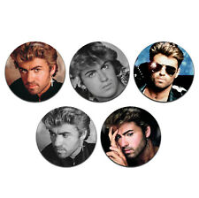 5x George Michael Singer-Songwriter 25mm / 1 Inch D Pin Button Badges