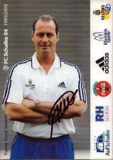 Huub Stevens NDL - Trainer Schalke - Fußball Origi. Autogramm Autograph (K-8229