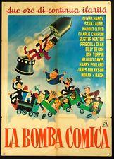 LA BOMBA COMICA Ca c'est du cinema SENNETT, CHARLOT, MANIFESTO 1a ED. POSTER