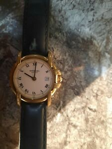 BARGAIN PRICE RAYMOND WEIL TRADITION 9955 18CT GOLD PLATED WATCH LEATHER STRAP