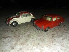 LESNEY 2-car lot**no.67 vw 1600 tl & no.16 vw 1500 saloon**VHTF-VGC**