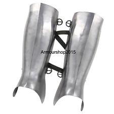 Armor Ancient Greek Hoplite Greaves Protective Medieval 16g Functional Leg Guard
