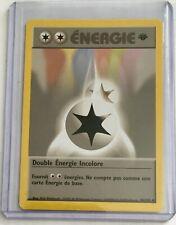 DOUBLE ÉNERGIE 1st Edition 96/102 Vintage Pokemon FRENCH Base NM/MINT Card