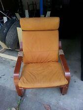 Ikea POÄNG Chair Armchair w/Suede Cushion
