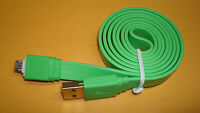 GREEN Micro USB Data Charger Cable for Doro Phone Easy 605 680 612 618 615 626