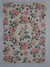 papier découpage technique serviette (thème:fleurs roses et papillons) 68X48cm