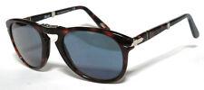 Persol 714 52 Havana Blue Customized Sunglasses Sole Foldable Folding Brown