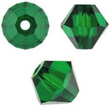 Swarovski Crystal Bicone. Emerald Color. 4mm. Approx. 144 PCS. 5328