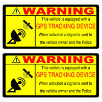 2 x GPS TRACKING Security Warning Alarm decal stickers Car Van Motorbike Scooter