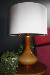 Lampshade, Pure White silk dupion with Brushed Gold, Silver or Copper lining