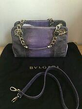 NWT BVLGARI BULGARI Monete Bag LIZARD Amethyst Purple, msrp $6261 AUTHENTIC
