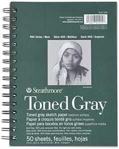 Strathmore toned Sketch Spiral Paper Pad 5.5-inch x 8.5-inch, Fast Free Delivery