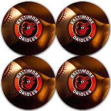 Baltimore Orioles Baseball Rubber Round Coaster set (4 pack) / RNDRBRCSTR2002