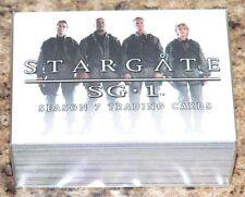 . Stargate SG-1 Season 7 Complete 72 card base set by Rittenhouse