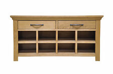 Solid Oak Hall Bench Shoe Storage 100cm X 35cm X 51cm Delivery