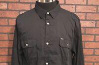Buffalo David Bitton Slim Fit Black Men's Shirt Size XXL