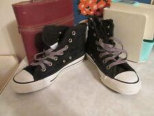 Converse All Star Chucks Hi Side Zip Suede Sherpa Sneakers Womens Size 6
