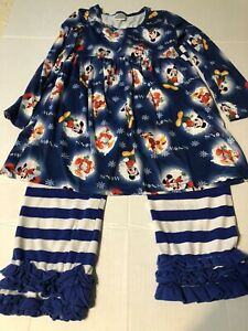 Disney Mickey Mouse Boutique, 2 Piece Girls Christmas outfit, 3XL or size 7