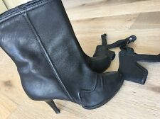 JUICY COUTURE DESIGNER LEATHER ANKLE BOOTS SZ 8M
