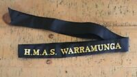 H.M.A.S WARRAMUNGA GENUINE RAN  TALLY BAND  ~  220+ SHIPS NAMES AVAILABLE .