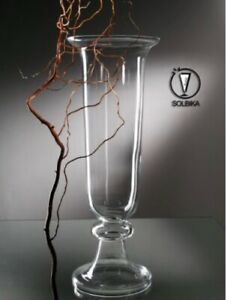 """Solbika glassworks vase 32 3/8"""" High wedding Home decor party planner NEW more"""