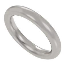 Ringe ohne Steine aus Weißgold für Damen mit echtem Edelmetall 52 (16,5 mm Ø)