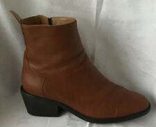 ZARA Ladies Tan Ankle Boots In Good Condition Size Eu 36 UK 3