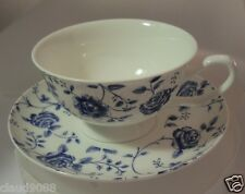 "QUEENS  FINE BONE CHINA ""BLUE STORY ROSE CHINTZ CUP&SAUCER""  BLST94121 Not Boxed"