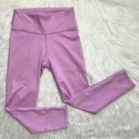 High waisted fabletics purple pink leggings powerhold crop size XS