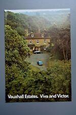 Vintage Brochure: Vauxhall Viva & Victor Estate V2 140 - 1972