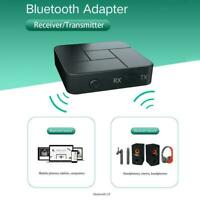 Bluetooth 5.0 Transmitter Receiver Wireless Audio 3.5mm Jack Adapter Aux R6G5
