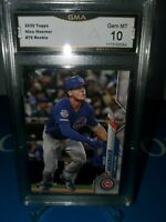 GMA 10 💎MINT ~Nico Hoerner 2020 Topps Rookie Card CHICAGO CUBS ! ROY? 🚀📈🔥💎⚾