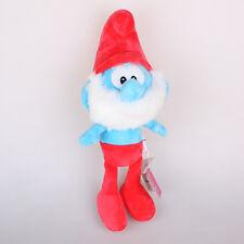 "Licensed 15"" 38Cm Papa Smurf The Smurfs Plush Toys Soft Stuffed Animal Doll"