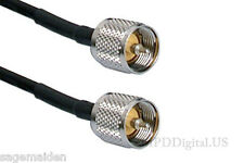 125 ft  RG8X  US Made Coaxial Jumper Cable PL259 UHF Male Connectors 125 ft