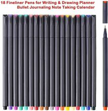 iBayam Journal Planner Pens Colored Fine Point Markers Fine Tip Drawing 18 color