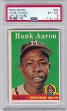 RG: 1958 Topps Baseball Card #30 Hank Aaron Milwaukee Braves - PSA 6