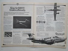 10/1983 PUB BEECHCRAFT KING AIR B200T AIRCRAFT AVION FLUGZEUG ORIGINAL AD
