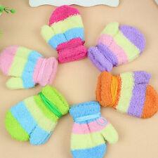 1 Pair Winter Warm Baby Kids Gloves Winter Hanging Neck Mittens Knitting Gloves