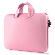 Luxury Laptop Bag Notebook Case Handbag Carry Bag Pink For 15.6 Inch