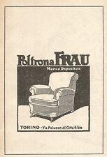 Z2456 Poltrona FRAU - Torino - Pubblicità del 1929 - Vintage advertising