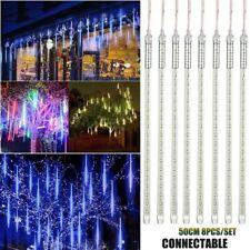 50cm LED Meteor Shower Rain Star Drop Snow Fall Christmas Fairy String Lights