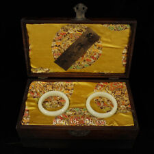 "8"" China antique Qing Dynasty palace Luminous stone bracelet Set of boxes"