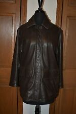 Women's Eddie Bauer Leather Field Jacket Barn Coat XS Super THICK WARM NM