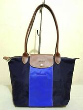 LONGCHAMP SS15 LE PLIAGE PERSONALIZED NYLON SMALL LONG HANDLE TOTE - AUTHENTIC
