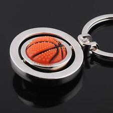 2019 Sports Rotating Basketball Keychain Car Keyring Metal Keyfob Holder LT