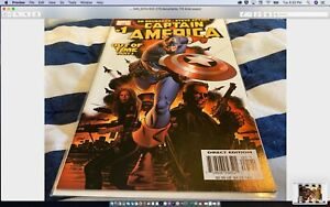 🇺🇸CAPTAIN AMERICA #1, VOL.5: 1st cameo appearance of Winter Soldier! (2005)🔥