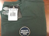 Dickies Big and Tall Short Sleeve Heavyweight Crew Neck Tee, Hunter Green, 5XL